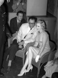 Marilyn Monroe with Her New Husband Arthur Miller at a Press Conference in London