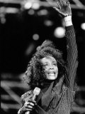 Whitney Houston at the Nelson Mandela Birthday Concert at the Wembly Stadium in London  June 1988