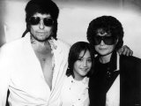 Bob Dylan American Folk Singer and Legend with Yoko Ono and Sean Lennon at Dylan's Party