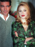 Madonna Ciccone with Her Co-Star Antonio Banderas in Evita