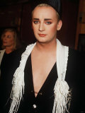 Boy George at a Charity Auction at Christies in Aid of the Aids Crisis Trust