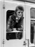 David Bowie Leaning out of Railway Carriage of Paris Boat Train at Victoria Station  July 1973