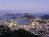 Botafogo and Sugarloaf Mountain from Corcovado  Rio de Janeiro  Brazil