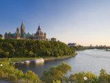 Parliament Hill and Ottawa River  Ottawa  Ontario  Canada