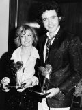 Elaine Paige with David Essex as They Receive Their Variety Club Awards for Evita