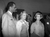 Marilyn Monroe with Husband Arthur Miller at London Airport  July 1955