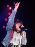 Jon Bon Jovi Performing with Band at Hammersmith Odeon in 1986