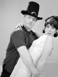 Dick Emery and Una Stubbs Seen Here Rehearsing for the Dick Emery Show  July 1963