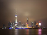 China  Shanghai  Pudong Skyline Across Huangpu River