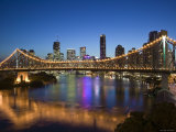 Australia  Queensland  Brisbane  Story Bridge with Riverside Centre Highrises