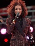 Whitney Houston Performing at Wembley Stadium in Honour of Nelson Mandela's 70th Birthday  Jun 1988