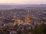 San Miguel de Allende and La Parroquia Church  Guanajuato State  Mexico