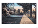 Binghamton  New York - Residential Scene on Riverside Drive