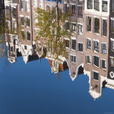 Holland  Amsterdam  Traditional Gabled Houses Reflected in Canal