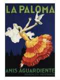 Spain - La Paloma - Anis Aguardiente Promotional Poster