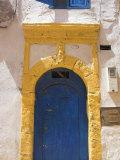 North Africa  Morocco  Essaouira  Medina  Blue and Yellow Door
