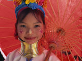 Thailand  Chiang Rai  Long Neck Karen Hilltribe  Long Neck Girl