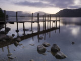 Tranquil Landscape and Pier  Derwent Water  Lake District  Cumbria  England