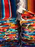 Blankets in Market  Local Craft  San Cristobal de Las Casas  Chiapas Province  Mexico