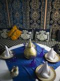 Moroccan Restaurant Interior  Rissani  Tafilalt  Morocco  North Africa