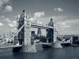 Tower Bridge and Thames River  London  England