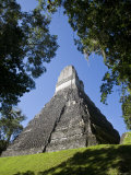 Guatemala  El Peten  Tikal  Gran Plaza  Temple of the Great Jaguar