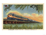 Biloxi Bay  Mississippi - The Humming Bird Railroad Train