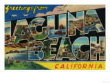 Laguna Beach  California - Large Letter Scenes
