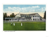Bridgeport  Connecticut - Exterior View of Brooklawn Country Club  Women Golfing