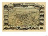 Bakersfield  California - Panoramic Map
