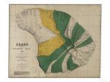 Hawaii - Panoramic Lanai Island Map