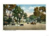 Bridgeport  Connecticut - View of Park and Fairfield Avenues