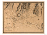Hawaii - Panoramic Map of Honolulu