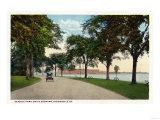Bridgeport  Connecticut - Seaside Park Drive View Showing Locomobile Company
