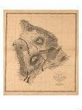 Hawaii - Panoramic Hawaii Island Map