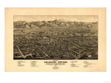 Colorado - Panoramic Map of Colorado Springs No 1