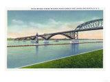 Buffalo  New York - View of the Peace Bridge over Niagara River