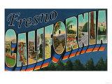 Fresno  California - Large Letter Scenes