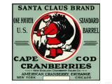 Cape Cod  Massachusetts - Santa Claus Brand Cranberry Label