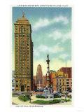 Buffalo  New York - Lafayette Square View of Liberty Bank Bldg  City Hall