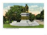 Bridgeport  Connecticut - Seaside Park View of the P T Barnum Monument