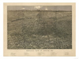 Colorado - Panoramic Map of Denver No 2