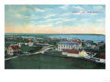 Block Island  Rhode Island - Aerial View of the Town