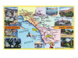 California - Roadmap of Southern CA Romantic Highways