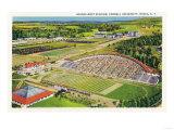 Ithaca  New York - Aerial View of Cornell University Schoellkopf Stadium