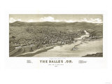 Oregon - Panoramic Map of Dalles