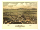 Oregon - Panoramic Map of Jacksonville