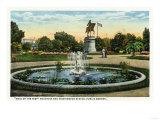 Boston  MA - Maid of the Mist Fountain  Washington Statue  Public Garden View