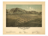 Idaho - Panoramic Map of Hailey