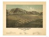 Idaho - Panoramic Map of Hailey